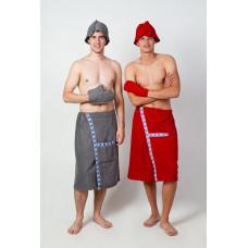 Набор для сауны трёхпредметный махровый мужской