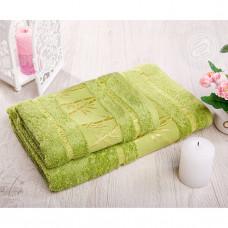 """Полотенце махровое """"Бамбук-зеленый"""" (2 шт)"""