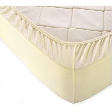 Простыня на резинке молочная (трикотаж, поплин, сатин)