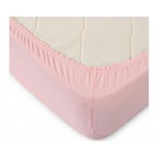 Простыня на резинке розовая (трикотаж, поплин, перкаль, сатин)