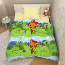 """Детский комплект постельного белья из бязи """"Три кота"""""""